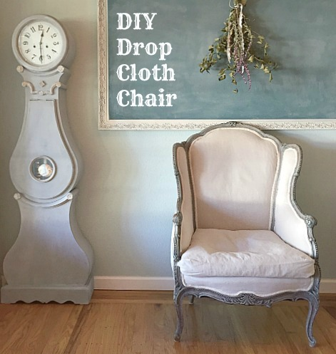 DIY Drop Cloth Chair