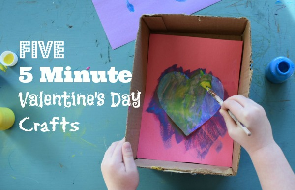 Five 5 Minute Valentine S Day Crafts 187 Momtique Kendra
