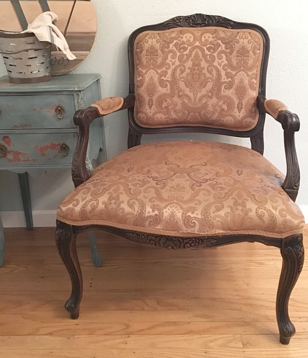 before chair french drop cloth