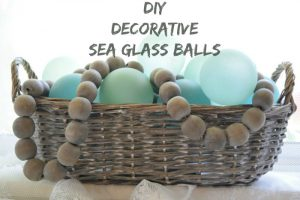 DIY sea glass balls by momtique
