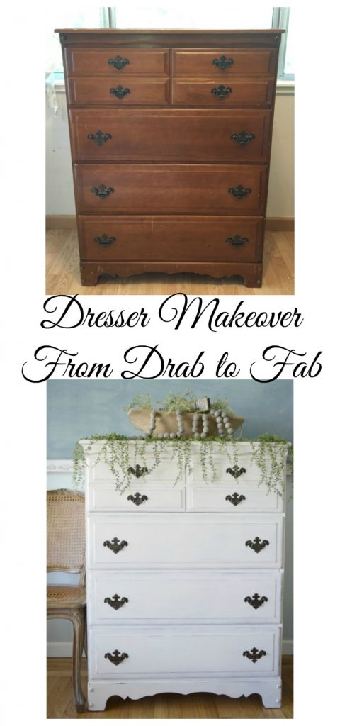 Before and After Dresser Makeover with Milk Paint from the Close5 App