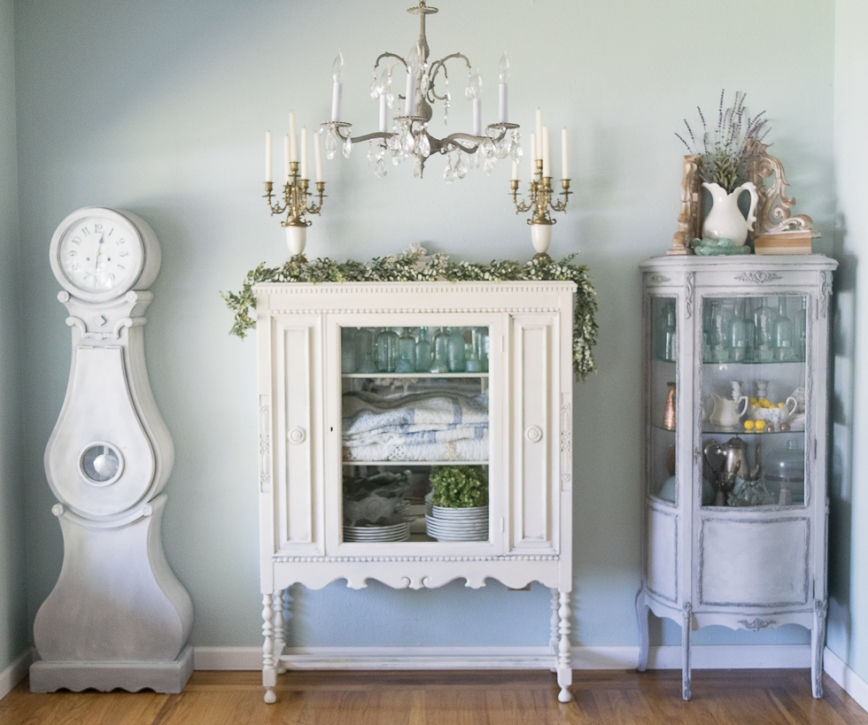 Antique Cabinet Makeover Momtique Kendra Williams DIY