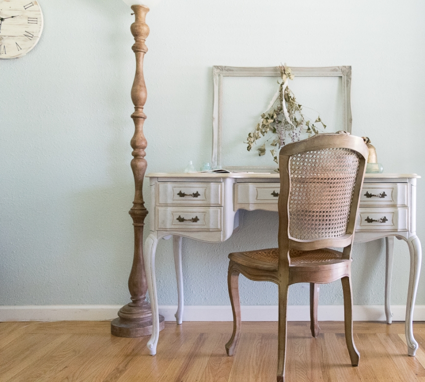 French Provincial Office Makeover