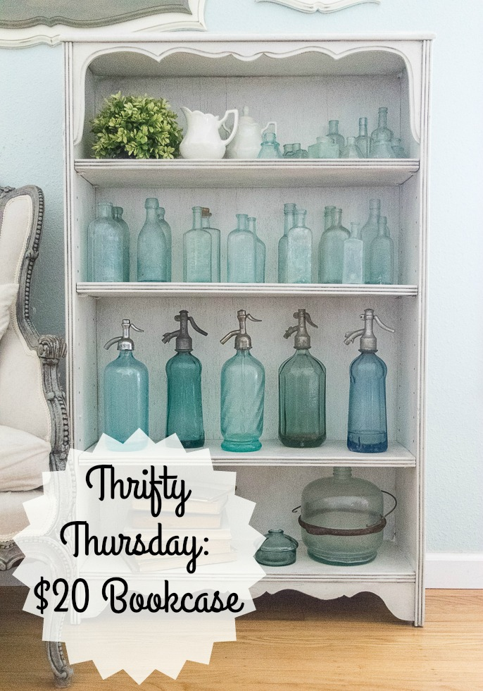Thrifty Thursday Bookcase Makeover