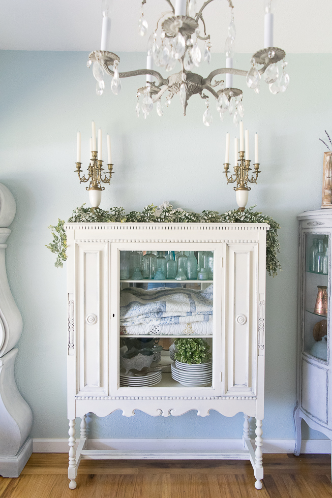 White French Cabinet Painted by momtique