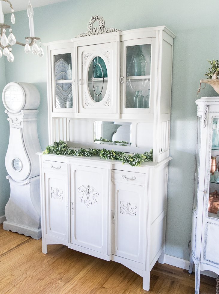 Antique Painted Hutch by Momtique